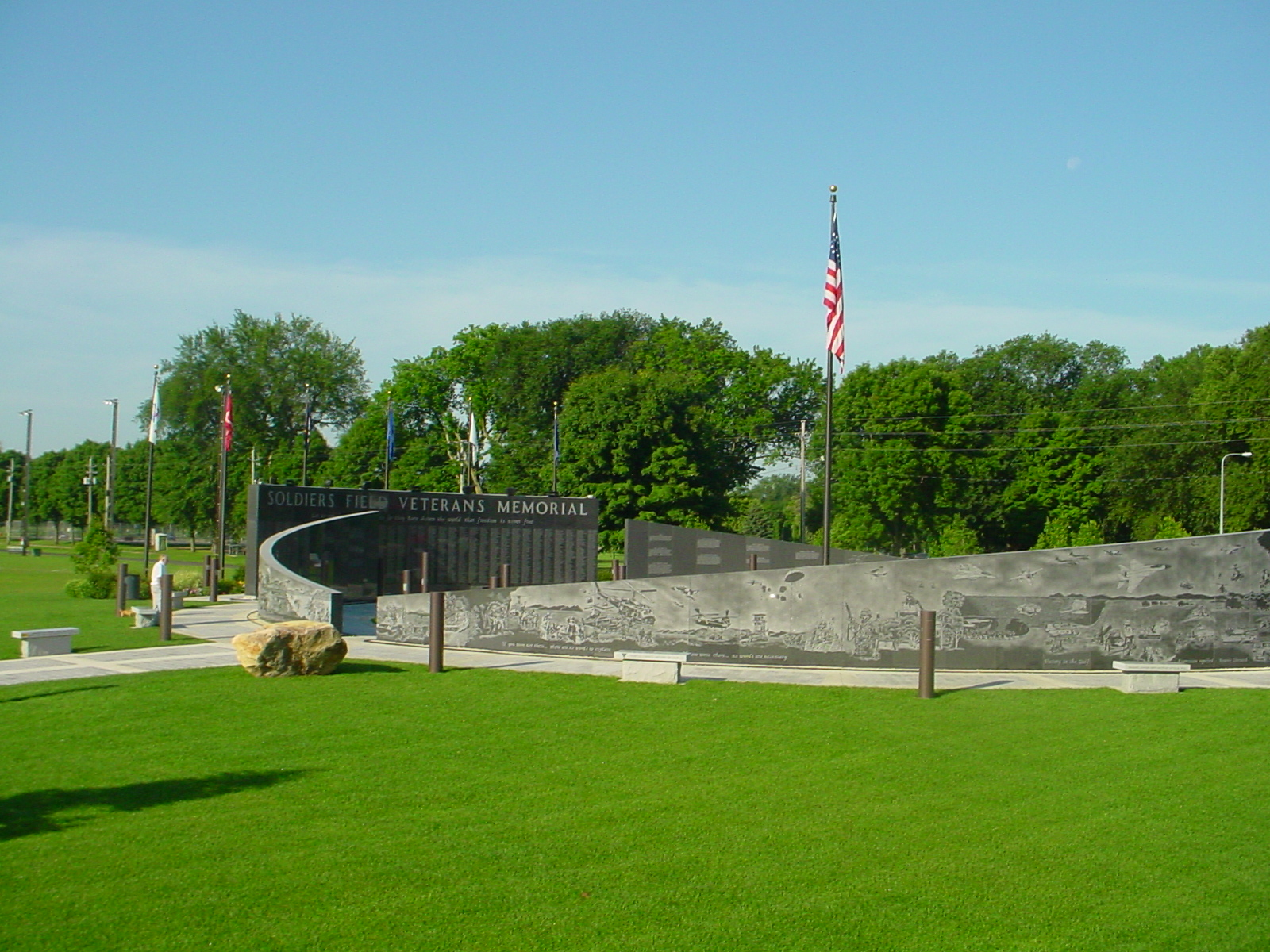 Veterans Memorial at Soldiers Field